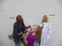 Zombie getting food